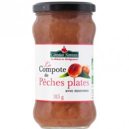 Compote peches plates