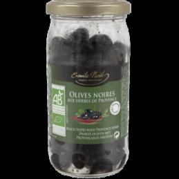 Olives noires herbes boc