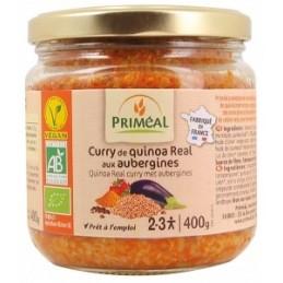 Curry quinoa  aubergines